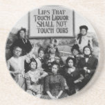 Lips That Touch Liquor Shall Not Touch Ours Drink Coasters