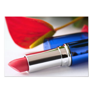 Lipstick 13 Cm X 18 Cm Invitation Card