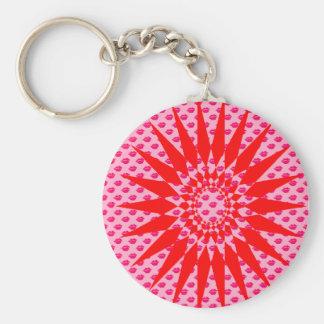 Lipstick Basic Round Button Key Ring