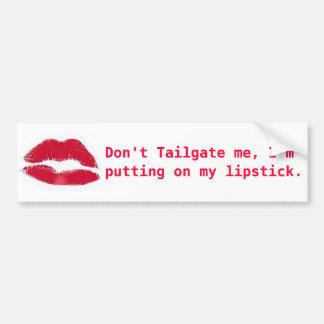 Lipstick Bumper Sticker