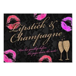 Lipstick & Champagne Bachelorette Card