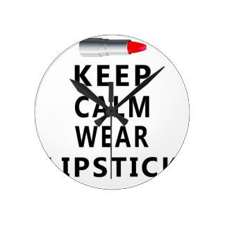 lipstick design cute round clock