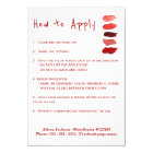 Lipstick distributor application instructions card