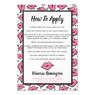 Lipstick Distributor How To Apply Application Card