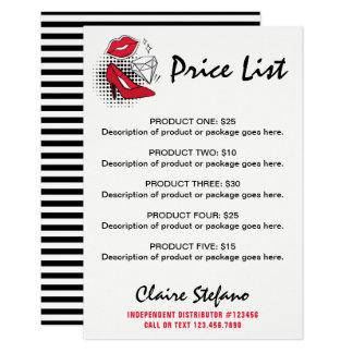 Lipstick Distributor Price List Modern Lips Kiss Card