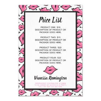 Lipstick Distributor Product Price List Pink Kiss Card