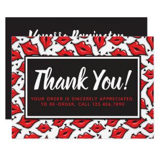 Lipstick Distributor Thank You Red Lips Kiss Card