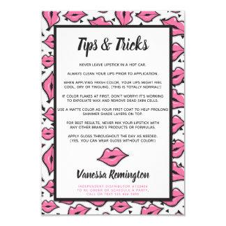 Lipstick Distributor Tips & Tricks Pink Kiss Card