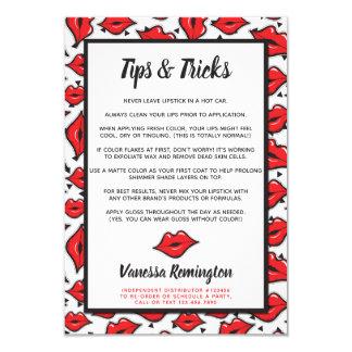 Lipstick Distributor Tips & Tricks Red Kiss Card