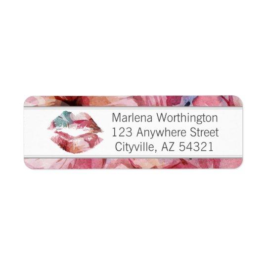 Lipstick Distributor Watercolor Lip Return Address Return Address Label