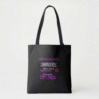 Lipstick Is My BFF Tote