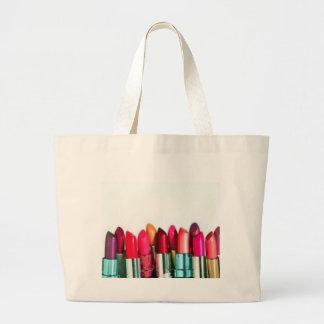 lipstick jumbo tote bag