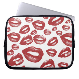 Lipstick Kiss Laptop Sleeve