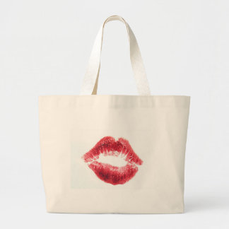 Lipstick Kiss - Lips Tote Bags