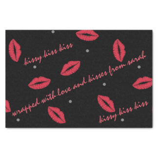 Lipstick Kiss Wrapped with Love Tissue Paper
