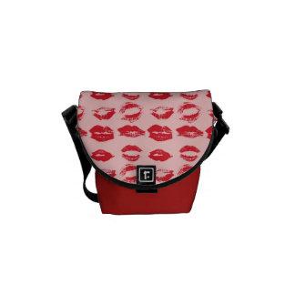 Lipstick Kisses Messenger Bag