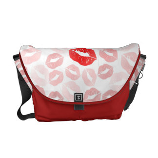Lipstick Lips Courier Bag
