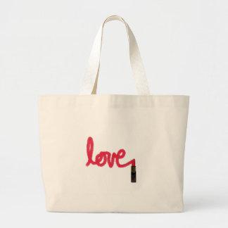 Lipstick Love Canvas Bags