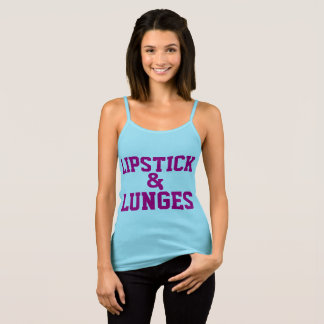 LIPSTICK & LUNGES workout tank tops & t-shirts