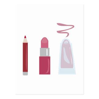 Lipstick Makeup Postcard