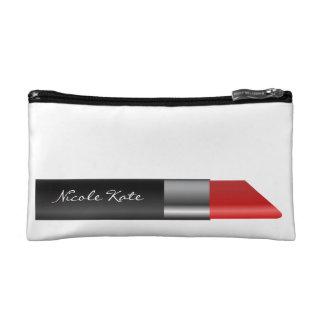 Lipstick Monogram Makeup Bags