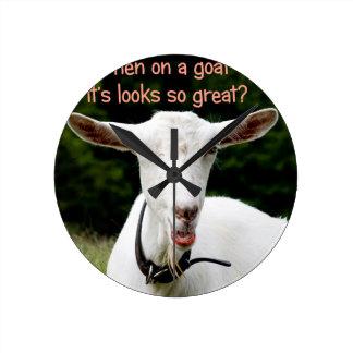 Lipstick on a goat wall clocks