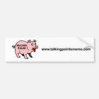 Lipstick on a Pig Bumper Sticker