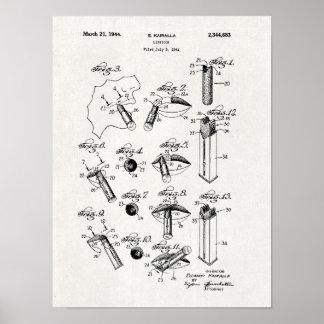 Lipstick Patent Print 1944