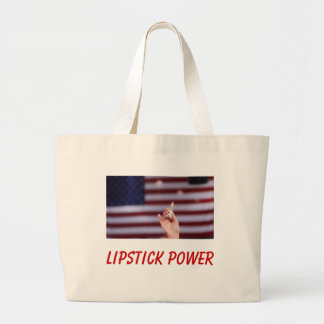 Lipstick Power Canvas Bag