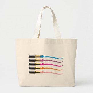 lipstick print tote bags