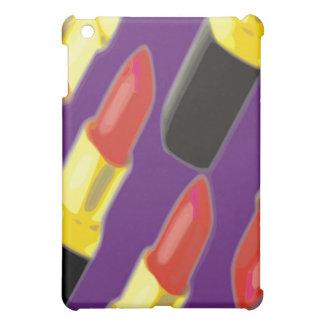 Lipstick purple background iPad mini cover