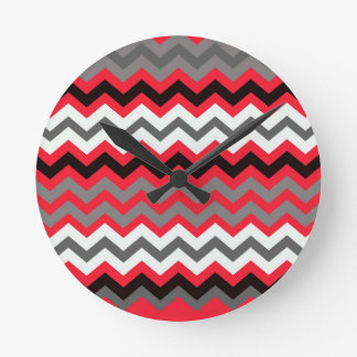 Lipstick Red,Black and White Wall Clocks