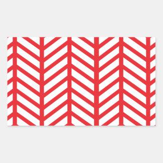 Lipstick Red Chevron Folders Rectangular Sticker