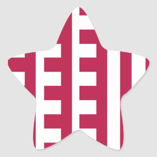 Lipstick Red Combs Tooth Star Stickers