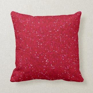 Lipstick Red Glitter Cushion