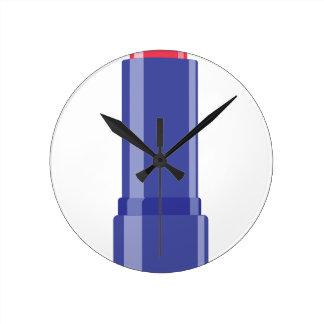 Lipstick Round Clock