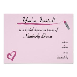 Lipstick theme bridal shower invitation