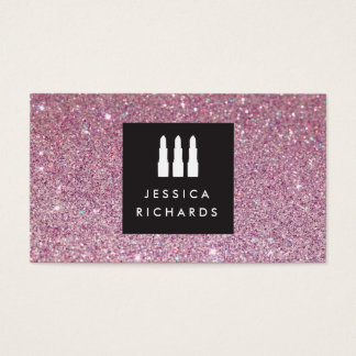Lipstick Trio Logo for Freelance Makeup Artist III Business Card