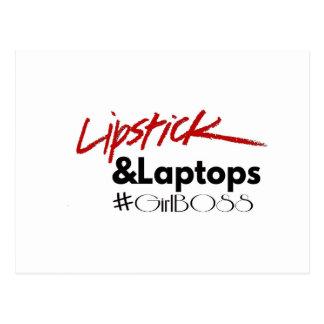 Lipsticks and Laptops Postcard