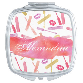 Lipsticks Glosses & Lip Print Kisses Custom Mirror Mirrors For Makeup