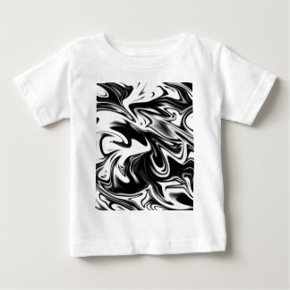 Liquefied Black White Marble, Baby T-Shirt