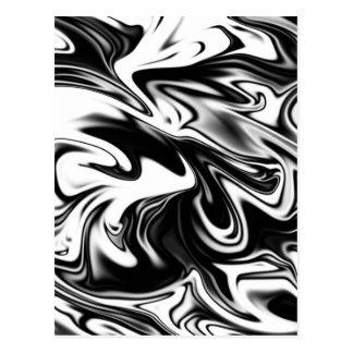 Liquefied Black White Marble, Postcard
