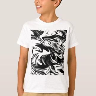 Liquefied Black White Marble, T-Shirt