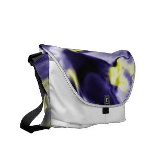 Liquid Blue Abstract Messenger Bag