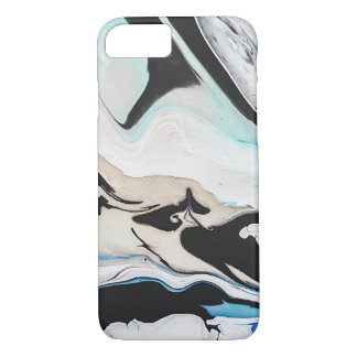Liquid Blue And Black iPhone Case