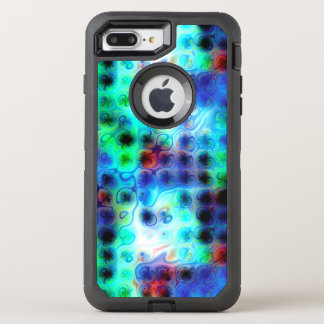 Liquid Blue Dots OtterBox Defender iPhone 8 Plus/7 Plus Case