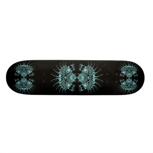 Liquid Blue Web Custom Skate Board
