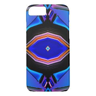 Liquid Blues & Pink Glow Geometrical Design iPhone 8/7 Case