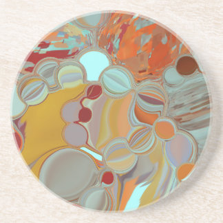 Liquid Bubbles Abstract Design Coaster