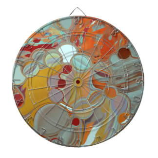 Liquid Bubbles Abstract Design Dartboard
